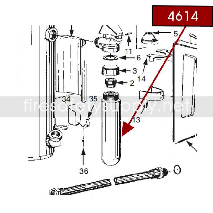Ansul 4614 RED LINE 20 lb. Carbon Dioxide Cartridge