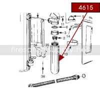 Ansul 4615 RED LINE 30 lb. Carbon Dioxide Cartridge