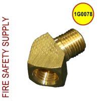Getz 1G0078 Elbow Brass 45 Degree Street 1/4 NPT