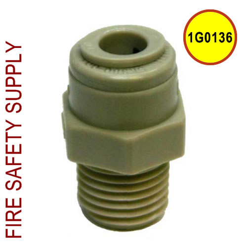 Getz 1G0136 Connector Plastic 1/4 Tube X 1/4 MPT