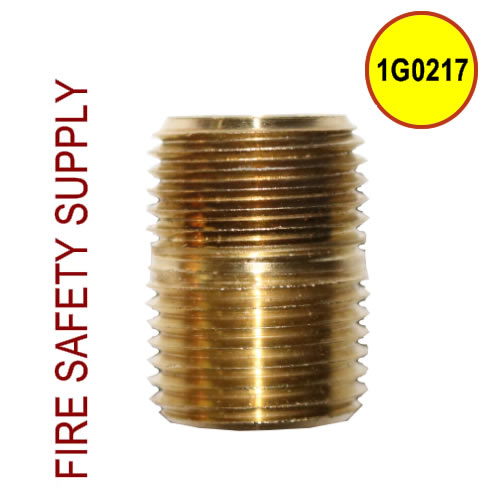 Getz 1G0217 Nipple 1/2 In NPT Brass Close