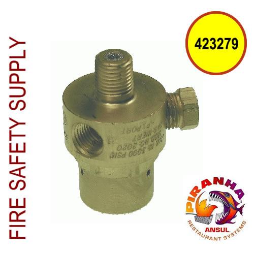Ansul 423279 Regulator, PIRANHA, Pressure Tested, 150 psi, Standard