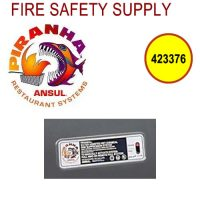 Ansul 423376 System Identification Stickers, PIRANHA (ANSUL AUTOMAN)