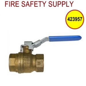 Ansul 423957 Water Supply Valve, 1 1/4 in., Lockable