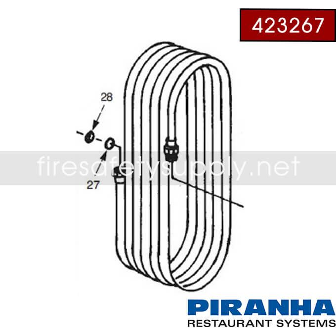 Ansul 423267 Hose Assembly, Piranha