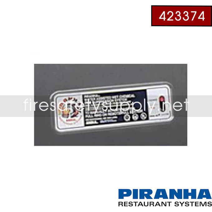 Ansul 423376 System Identification Stickers