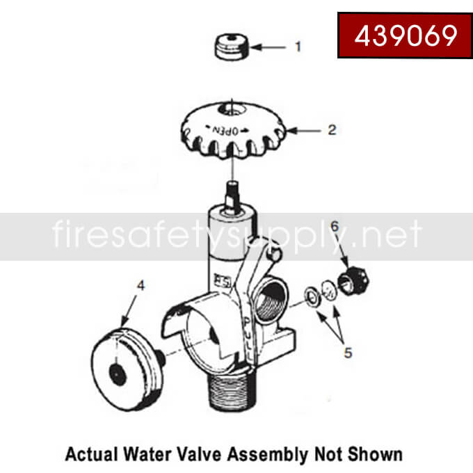Ansul 439069 Water Valve Assembly