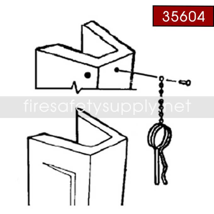 Ansul 35604 Ring Pin Guard, Metal, CR-LT-RP-10