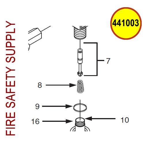 Ansul 441003 CO2 Steel Valve