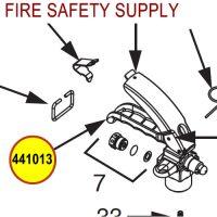 Ansul 441013 Brass CO2 handle Wheeled Extinguisher