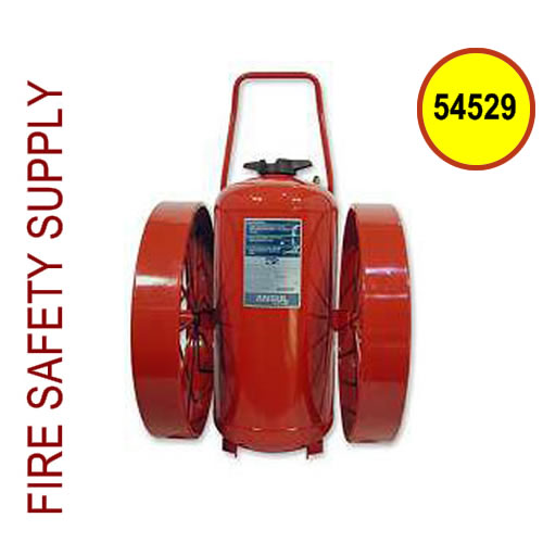 Ansul 54529 Extinguisher, Wheeled 350 lb., CR-RT-LR-I-K-350-D (Rubber Coated)