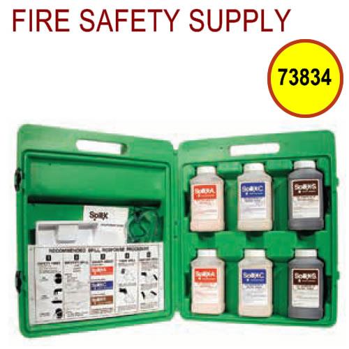 Ansul 73834 Spill Treatment Kit, Formaldehyde/Solvent, w/SPILL-X-FP, SPILL-X-S