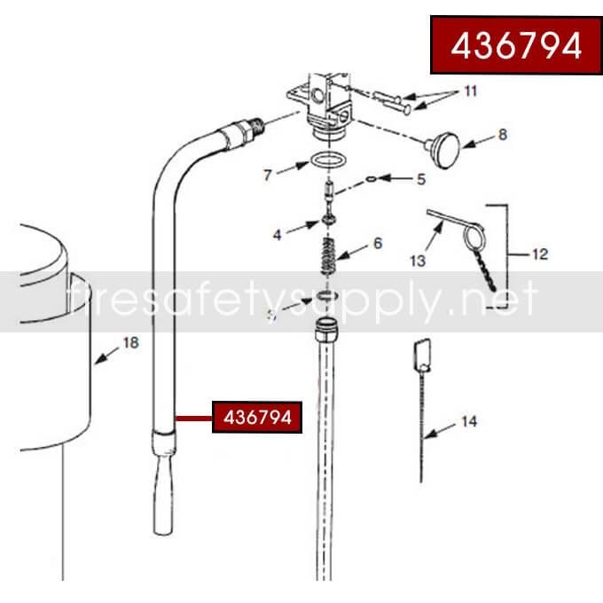 Ansul 436794 Hose and Nozzle Assembly (PK10S-I)