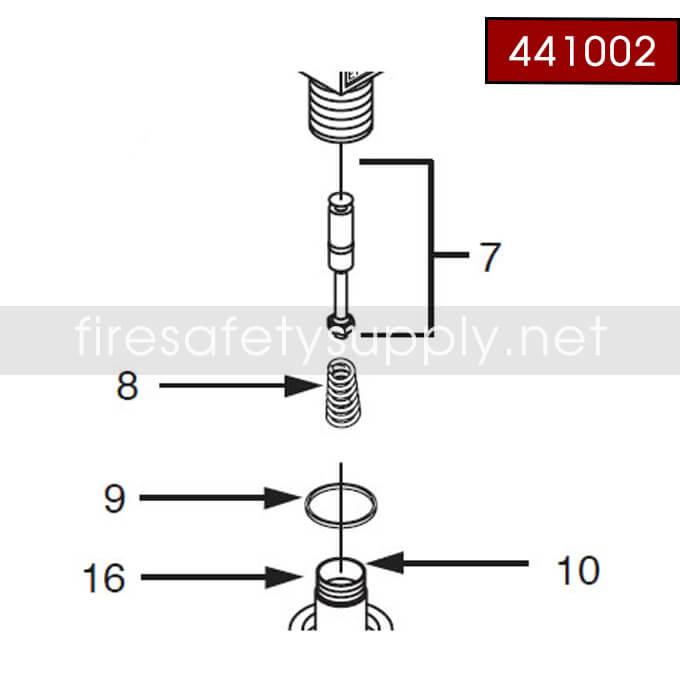 Ansul 441002 CO2 Aluminum Valve