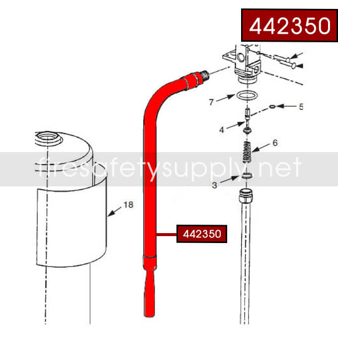 Ansul 442350 Hose and Nozzle Assembly