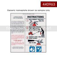 Ansul 440963 Nameplate, Replacement w/o UL/ULC PK10S & AA10S