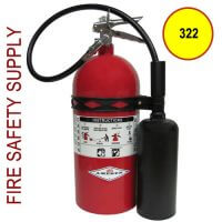 "Amerex 322 Fire Extinguisher 5B:C Carbon Dioxide, 5 lb., 17-3/4""H"