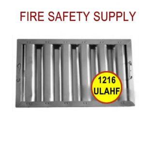 1216ULAHF 12 Inch x 16 Inch x 2 Inch Kleen Gard Aluminum Hood Filter (Riveted / Smooth Baffles)