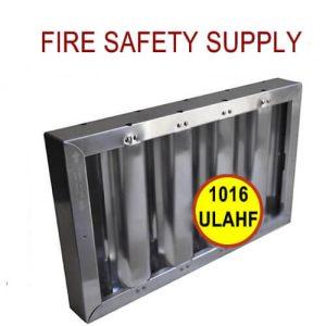 1016ULAHF 10 Inch x 16 Inch x 2 Inch Kleen Gard Aluminum Hood Filter (Riveted / Smooth Baffles)