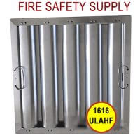16 inch x 16 inch x 2 inch Kleen Gard Aluminum Hood Filter (Riveted / Smooth Baffles)