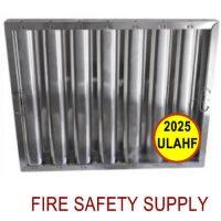 2025ULAHF 20 Inch X 25 Inch X 2 Inch Kleen Gard Aluminum Hood Filter (Riveted / Smooth Baffles)