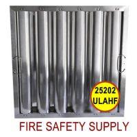25202ULAHF 25 Inch x 20 Inch x 2 Inch Kleen Gard Aluminum Hood Filter (Riveted / Smooth Baffles)