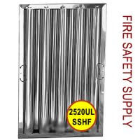 2520ULSSHF-25 inch x 20 inch x 2 inch Kleen Gard Stainless Steel Hood Filter (Riveted / Smooth Baffles)
