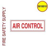 5010010 - SIGN ALUM 6 X 2 AIR CONTROL