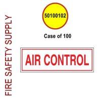 50100102 - SIGN ALUM 6 X 2 AIR CONTROL - Case of 100