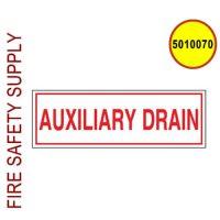 5010070 - SIGN ALUM 6 X 2 AUXILIARY DRAIN