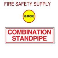 5010088 - SIGN ALUM 6 X 2 COMBO STANDPIPE