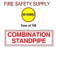 50100882 - SIGN ALUM 6 X 2 COMBO STANDPIPE - Case of 100