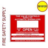5010120 - SIGN ALUM 9 X 7 CONTROL VALVE