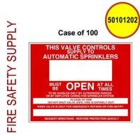 50101202 - SIGN ALUM 9 X 7 CONTROL VALVE - Case of 100