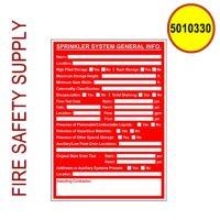 5010330 Sign Alum 5 x 7 Sprinkler System-General Information