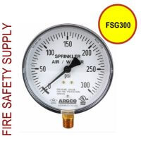 FSG300 Fire Sprinkler Gauge Air/Water 300 PSI UL/FM