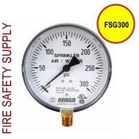 FSG300 Fire Sprinkler Gauge Air/Water 300 PSI UL/FM