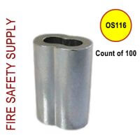 OS116 - Oval Sleeve 1/16 inch - 100 Count
