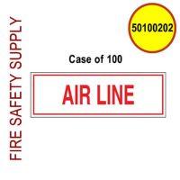 50100202 - SIGN ALUM 6 X 2 AIR LINE Case of 100