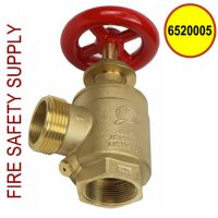 6520005 - FIRE HOSE ANGLE VALVE 1-1 and 2 Inch F (NPT) X M (NST)