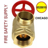 "6520010-CHICAGO - FIRE HOSE ANGLE VALVE 2-1/2"" F(NPT) X M(WCT)"