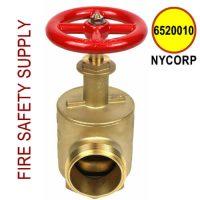 """6520010-NYCORP - FIRE HOSE ANGLE VALVE 2-1/2"""" NY CORP THREAD 3.00 X 8TPI"""