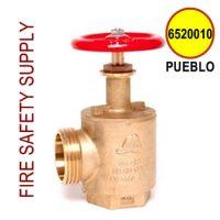 "6520010-PUEBLO - FIRE HOSE ANGLE VALVE 2-1/2"" PUEBLO/SLC/W.CA/3.25 X 6"