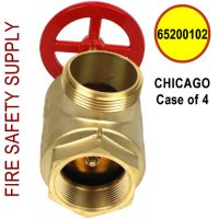 """65200102 - CHICAGO - FIRE HOSE ANGLE VALVE 2-1/2"""" F(NPT) X M(WCT) - Case of 4"""