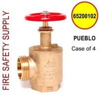 "65200102-PUEBLO - FIRE HOSE ANGLE VALVE 2-1/2"" PUEBLO/SLC/W.CA/3.25 X 6 - Case of 4"