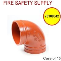 70100342 - GROOVED 90 3 Inch ELBOW SHORT (202) - Case of 15