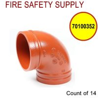 70100352 - Ductile Iron construction. Non-lead orange paint Conforms to ASTM A536 UL listed, FM Approved - Case of 14