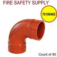 70100402 - GROOVED 90 1 Inch ELBOW STD LONG (201) - Case of 80