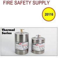 20116 - T/M head, 254°F/123°C, horizontal pull, brass