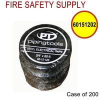 60151202 - TAPE ELECTRICAL BLACK 3/4 X 60 FT - Case of 200